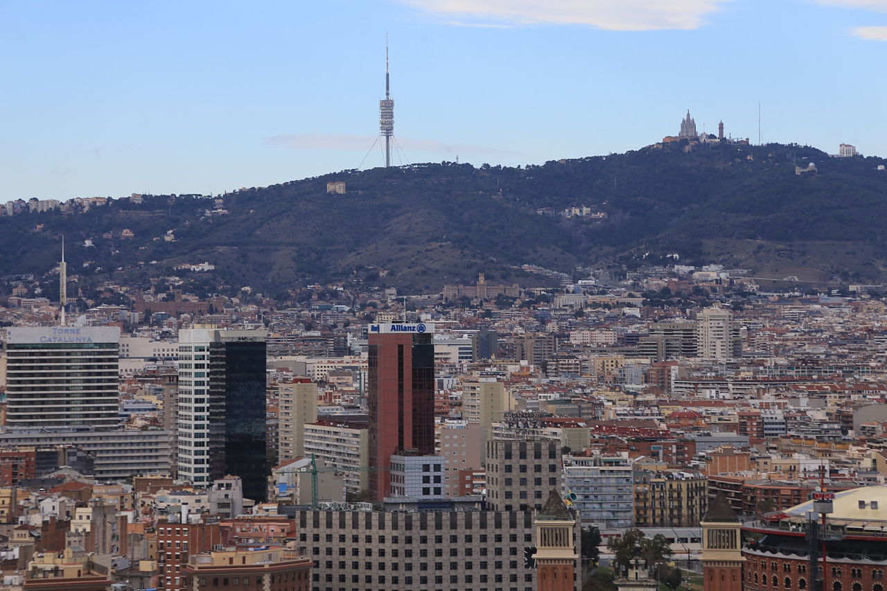 Barcelona. View from the roof of the National Palace