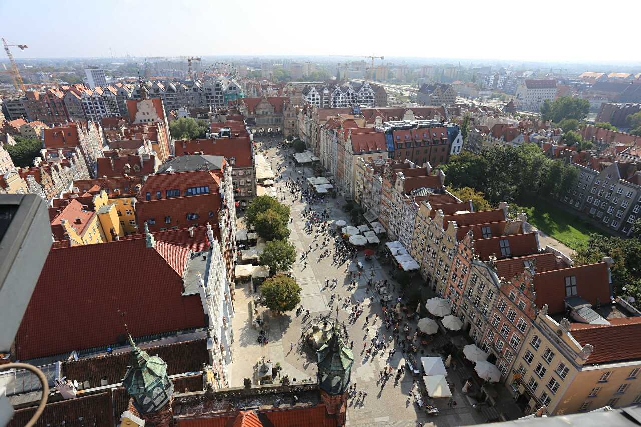 Gdańsk view from the Ratusz tower