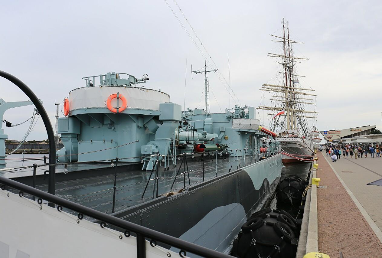 ORP Błyskawica, Gdynia