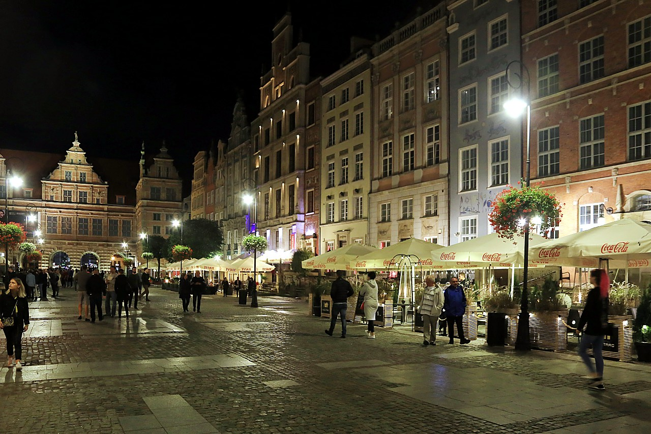 Evening Walk in Gdańsk Centre